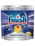Detergent vase tablete pentru masina de spalat Finish Quantum Lamaie, 36 bucati