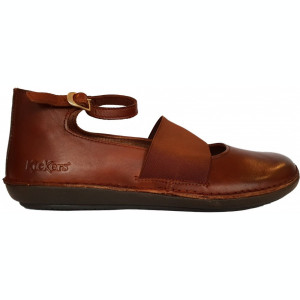 Pantofi dama casual cu bareta pe glezna Kickers 654090-50-114 fobaba camel