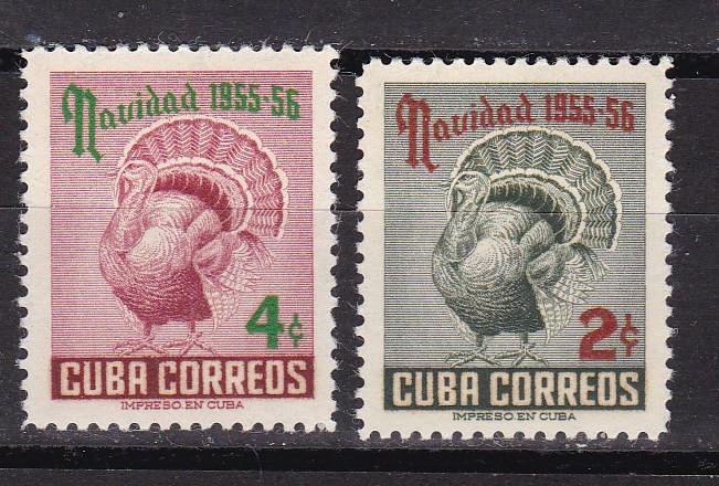 Cuba  1955  Craciun  fauna  MI 477-478  MNH  w60