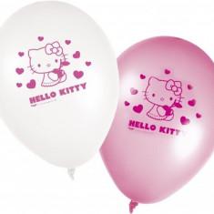 Baloane Hello Kitty Hearts din latex 28cm set 8 buc