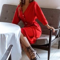 Rochie tricotată cu buzunare