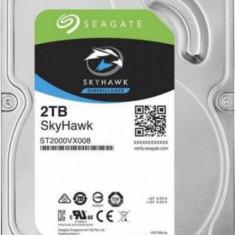 Hard Disk 2 TB NOU Seagate Skyhawk ST2000VX008, 3.5 inch, SATA III, 64 MB Cache, 5900 Rpm
