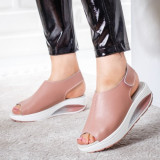 Sandale Piele Erilia roz cu talpa ortopedica -rl