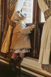 Palton fetite din tricot gros tip fluff cu captuseala din bumbac