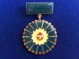 Insignă pionieri - România - Pionier - Meritul Pioneresc (variantă mare)