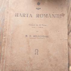 HARTA ROMANIEI - M. D. MOLDOVEANU -CCA  1945, 40 PLANSE