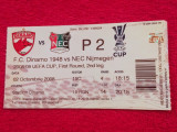 Bilet meci fotbal DINAMO BUCURESTI - NEC NIJMEGEN (02.10.2008)