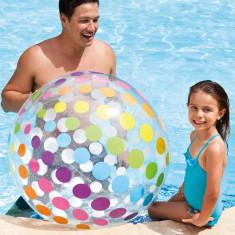 Minge Gonflabila Transparenta cu Buline Colorate Pentru Plaja sau Piscina 180 cm foto