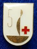Insigna Donator Onorific - CRUCEA ROSIE Medicina Sanitare Donator de sange #1