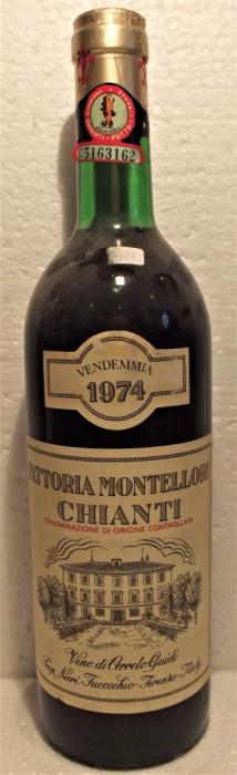 A 44- VIN CHIANTI FATTORIA MONTELLORI, DOC, RECOLTARE 1974, CL 73 GR 12,5