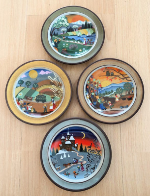 Farfurii - decorative / de colectie - Schramberg - Anotimpuri - 1980 foto