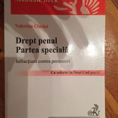 Valerian Cioclei - Drept penal - Partea speciala - Infractiuni contra persoanei