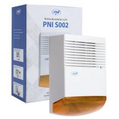Cumpara ieftin Resigilat : Sirena de exterior cu fir PNI S002 pentru sisteme de detectie efractie