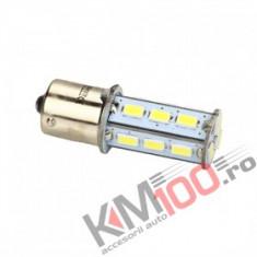 Bec LED BA15S 18 SMD 5730 12V ALB COD: PT19