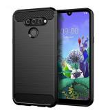 Husa LG Q60 LG K50 Iberry Carbon Negru