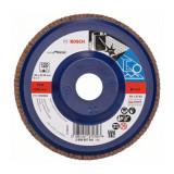 Disc evantai pentru slefuire Bosch, 125 x 22.23 mm, granulatie 120