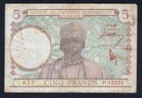 Africa Occidentala 5 Francs S13355 serie rosie! 1943