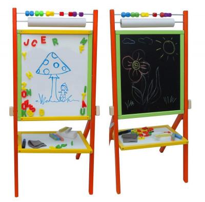 Tabla de scris completa 2 in 1, cu suport si accesorii - multicolora foto