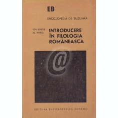 Introducere in filologia romaneasca