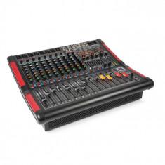Power Dynamics PDM-S1204A, mixer muzical cu 12 canale, amplificator integrat, (2 x 350 W RMS)