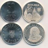 SV * Romania  LOT  2 x 50  BANI  2016 * COMEMORATIVA + UZUALA     UNC  din fasic