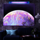 Poster UV fluorescent blacklight Psychedelic Planet 86x61cm, efect neon