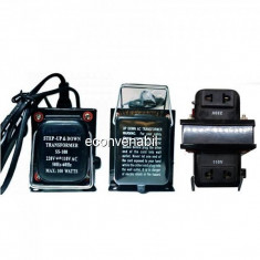 Transformator 220V 110V Convertor Tensiune cu Buton si Cablu 220V 100W