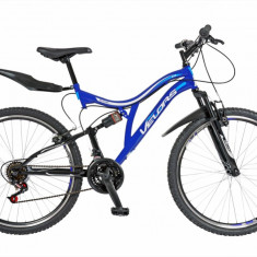 Bicicleta MTB FS FIVE Raptor 26 cadru otel culoare albastru alb