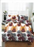 Cumpara ieftin Lenjerie de pat matrimonial cu husa de perna dreptunghiulara, Unique, bumbac mercerizat, multicolor, 220x230 cm, Set complet, FIVE STORE