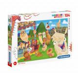 Cumpara ieftin Puzzle Super Color Lama, 104 piese
