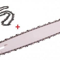 Lama drujba + 2 lanturi 25 dinti pas 3/8 35cm