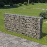 VidaXL Perete gabion cu capace, 200x20x85 cm, oțel galvanizat