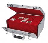 Cutie Valiza depozitare monede  pentru peste 500 monede - 15 tavi incluse
