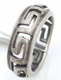Superb inel vintage din argint, manufacturat !