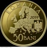 50 Bani 2019 Proof Presedintia Consiliului UE , Lupul Dacic