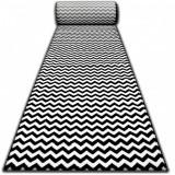 Traversa Sketch F561 negru și crem - Zig Zag, 120 cm