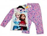 Pijama alb cu roz Frozen 4-8ani