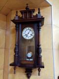 Pendula, ceas perete german, cadran din porțelan, funcțional, stare excelenta