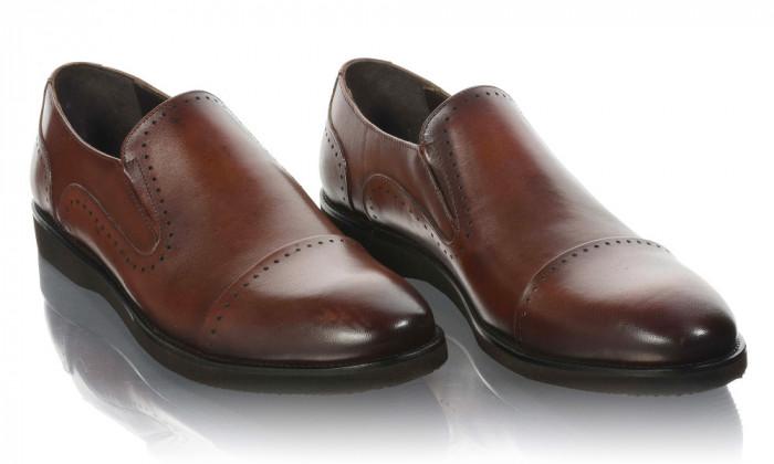 Pantofi barbati din piele naturala Komcero Kom-5024-143-BRW