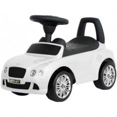 Masinuta fara pedale cu volan, spatar si claxon Bentley - Sun Baby - Alb