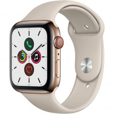 Smartwatch Apple Watch Series 5 GPS Cellular 44mm Gold Stainless Steel Case Stone Sport Band S/M & M/L