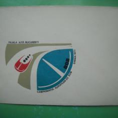 HOPCT  PLIC 622 CAMPIONATUL EUROPEAN DE BOB SINAIA 1977-SPORTURI IARNA ROMANIA