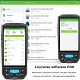 Android POS Loyverse touchscreen, cititor coduri bare 1D, slot SIM, microSD
