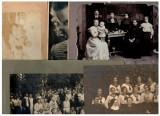 Lot 5 fotografii vechi ca.1890-1930, dimensiuni mari