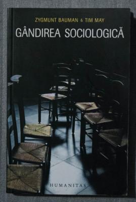 Zygmunt Bauman; Tim May - Gândirea sociologică foto