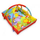 Saltea de joaca cu protectii laterale Baby Mix Zoo TK3261C