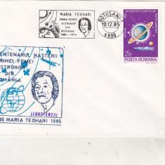 Bnk fil Plic ocazional Centenar nastere Maria Teohari - Botosani 1985, Romania de la 1950, Spatiu