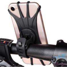 Suport Telefon Samsung Huawei iPhone Universal Pentru Bicicleta Negru