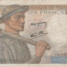 Franta   10 Francs 1944  P.99f VF