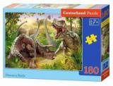 Puzzle Lupta dinozaurilor, 180 piese, castorland